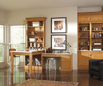 Contemporary Home Office Cabinets after remodeling
