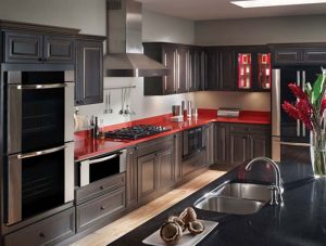 Design/Build Grey Kitchen Cabinets, Columbia, MD