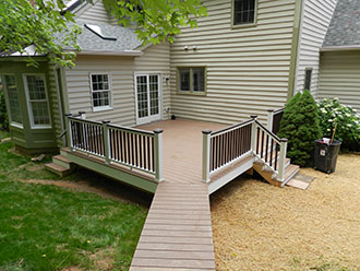 In-law Suite Addition with deck