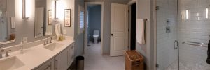 Master Bathroom Addition with Double Vanities and Shower with Body Sprays, Silver Spring, MD