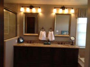 Redesigning Vanity Area After Enlarging Shower and Tiling Bathroom