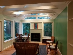 Sunroom Addition with Beam Ceiling, Bethesda, MD
